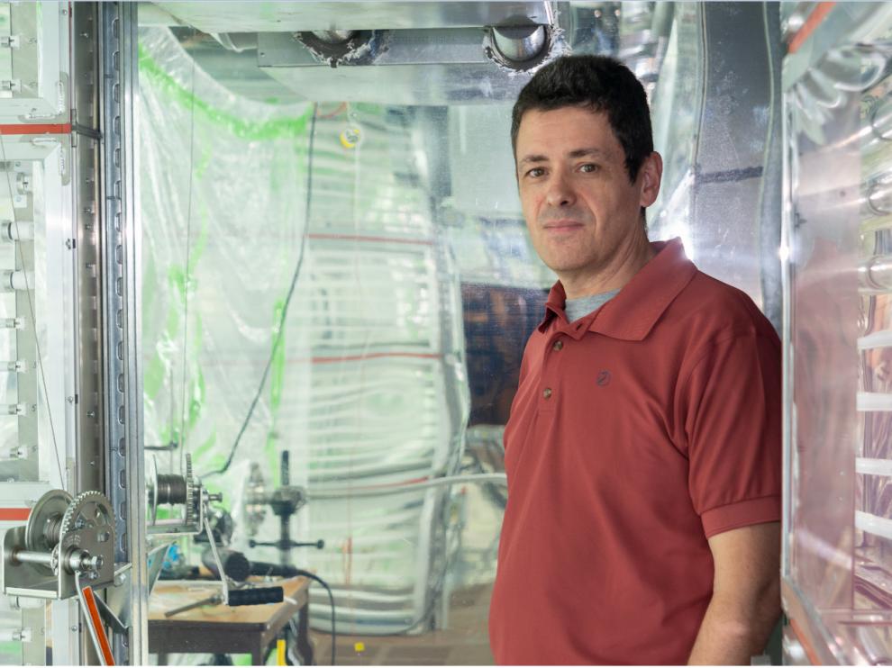 José Luis Jiménez en su laboratorio de la Universidad de Colorado.