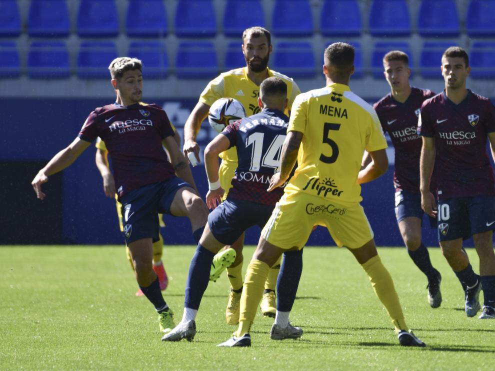 El Huesca B no ha podido pasar del empate ante el Formentera.