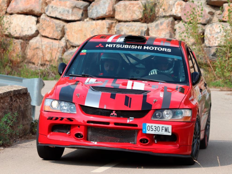 Bonillo y López, ganadores del Rallysprint de Nueno.