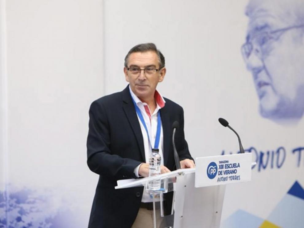 Luis María Beamonte, presidente del PP de Aragón