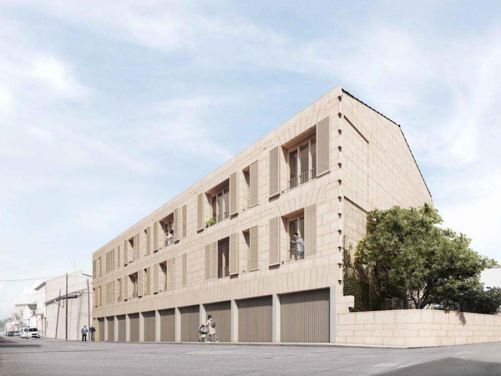 Proyecto del arquitecto oscense Javier Gavín enfocado a viviendas y aparcamientos sostenibles.