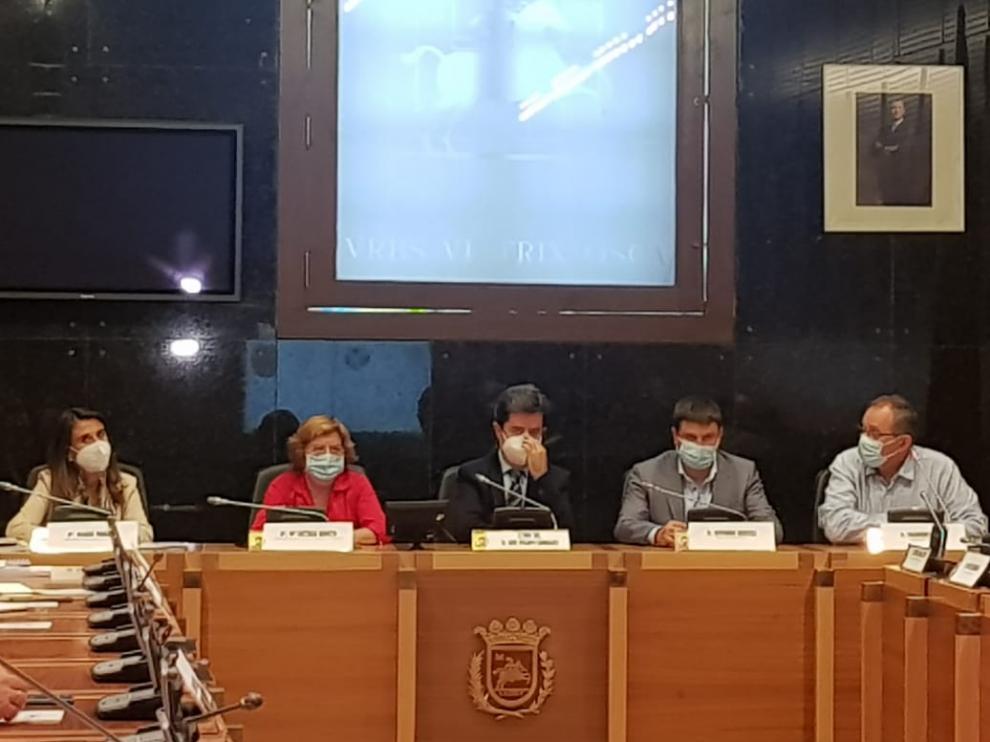 Reunión que se ha celebrado en el Ayuntamiento para renovar el convenio.