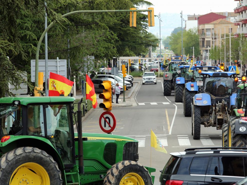 Tras la pandemia el campo aragonés volvió a retomar las movilizaciones por la PAC