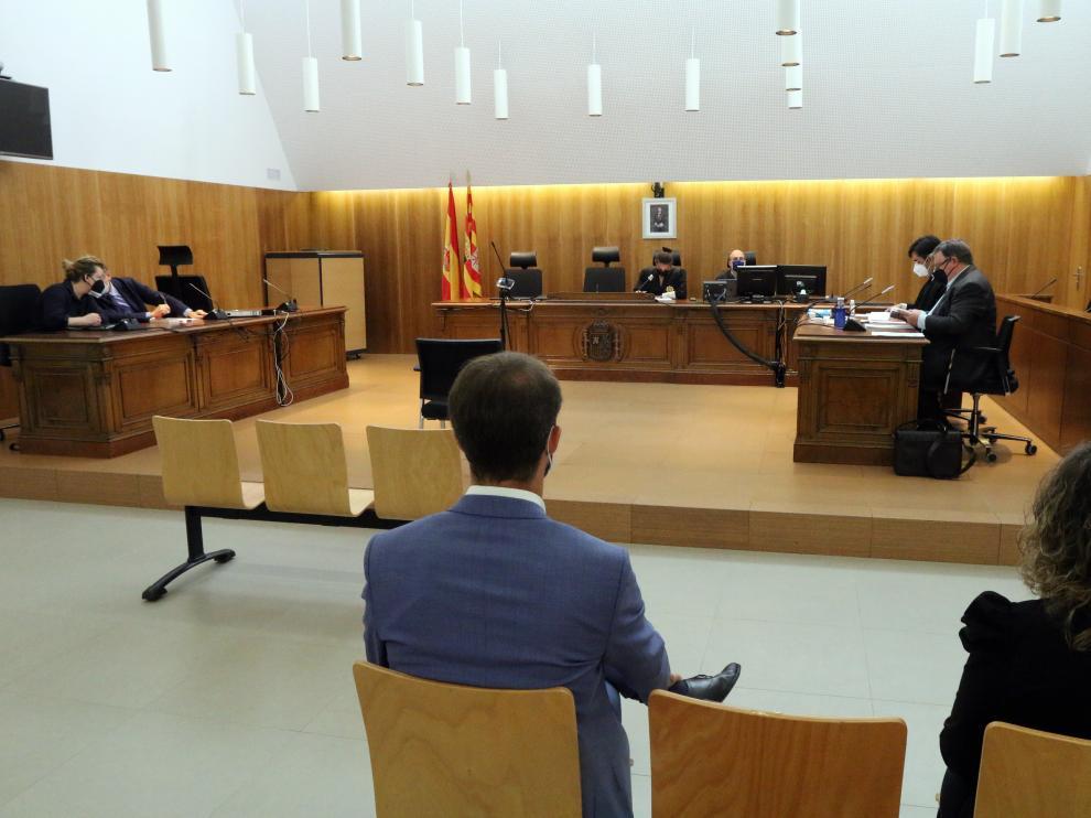 Juzgados de Huesca.Vista previa por las pinturas de Sijena foto pablo segura 27 9 - 21  ..[[[DDA FOTOGRAFOS]]]