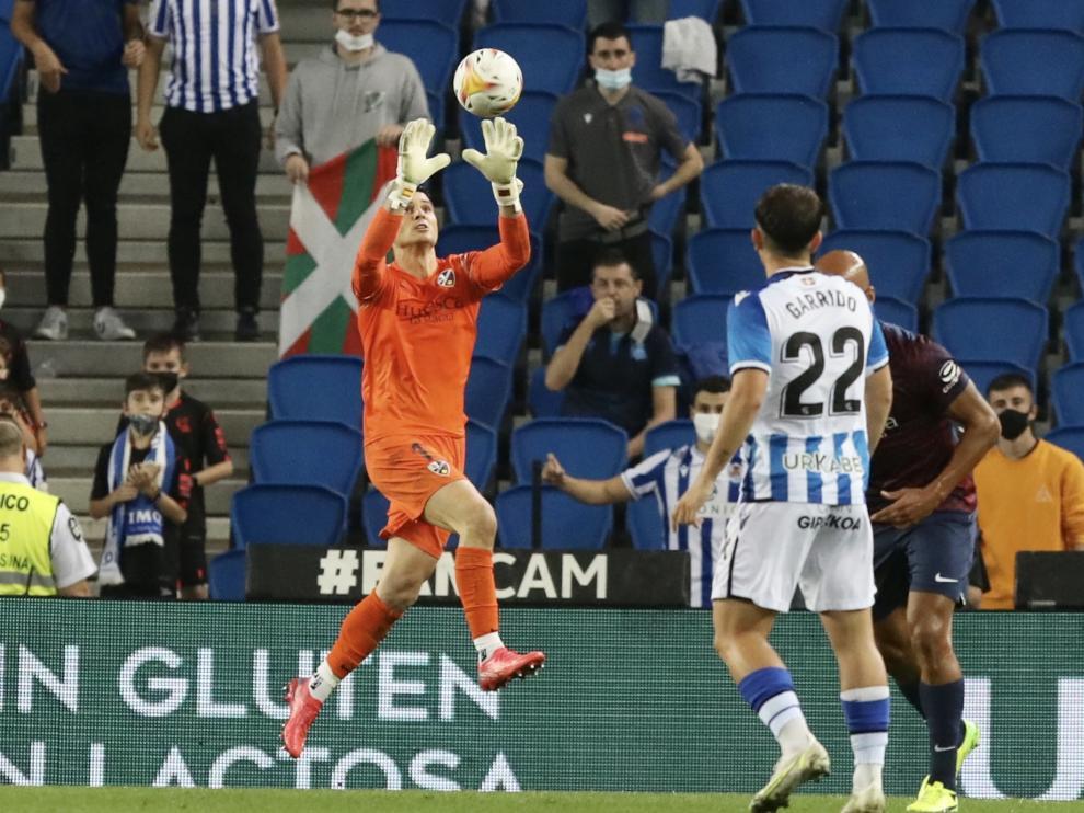 Andrés completó una destacada actuación ante la Real Sociedad B.