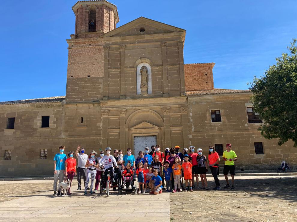 Familias en Loreto Marcha Aspace Huesca 2021.