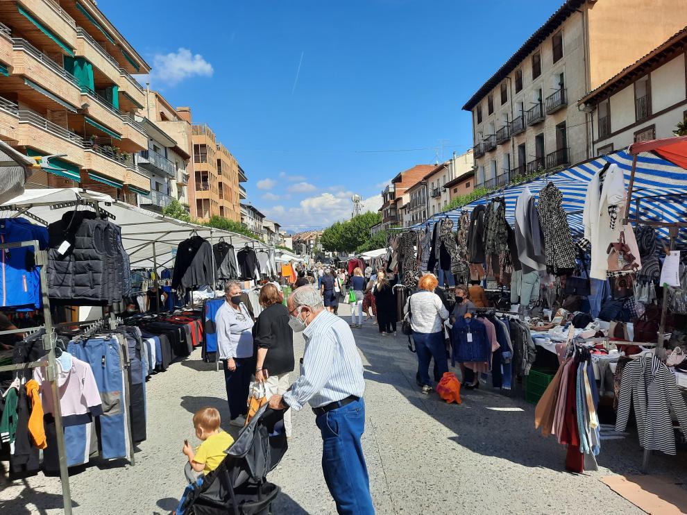 Ambiente registrado este miércoles en la Feria de San Miguel de Graus.