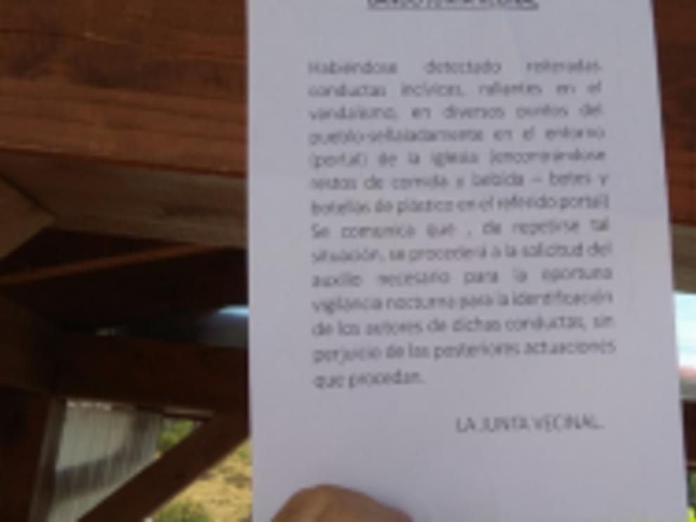 bando de la Junta Vecinal de Alamagarinos.