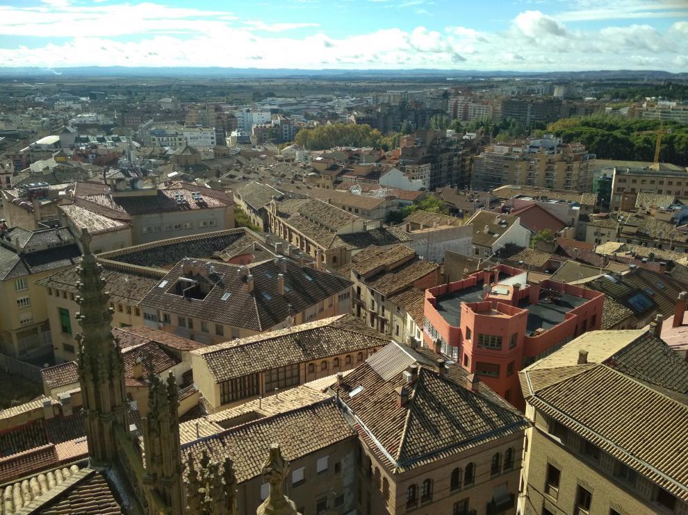 Vista aérea de la ciudad de Huesca.