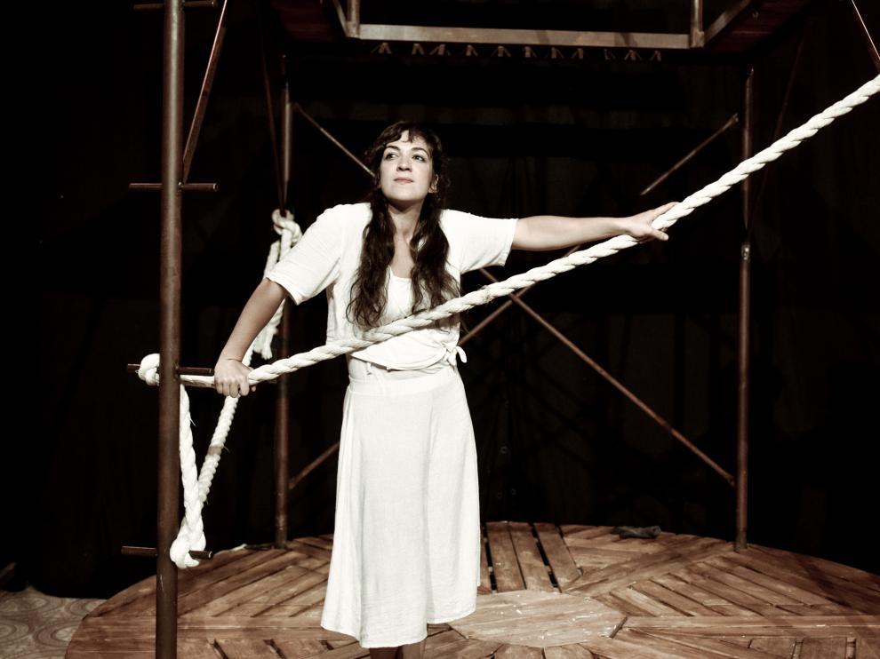 Alicia Buil es la creadora de esta obra de teatro musical que se representa a las 20 horas en Gerbe.