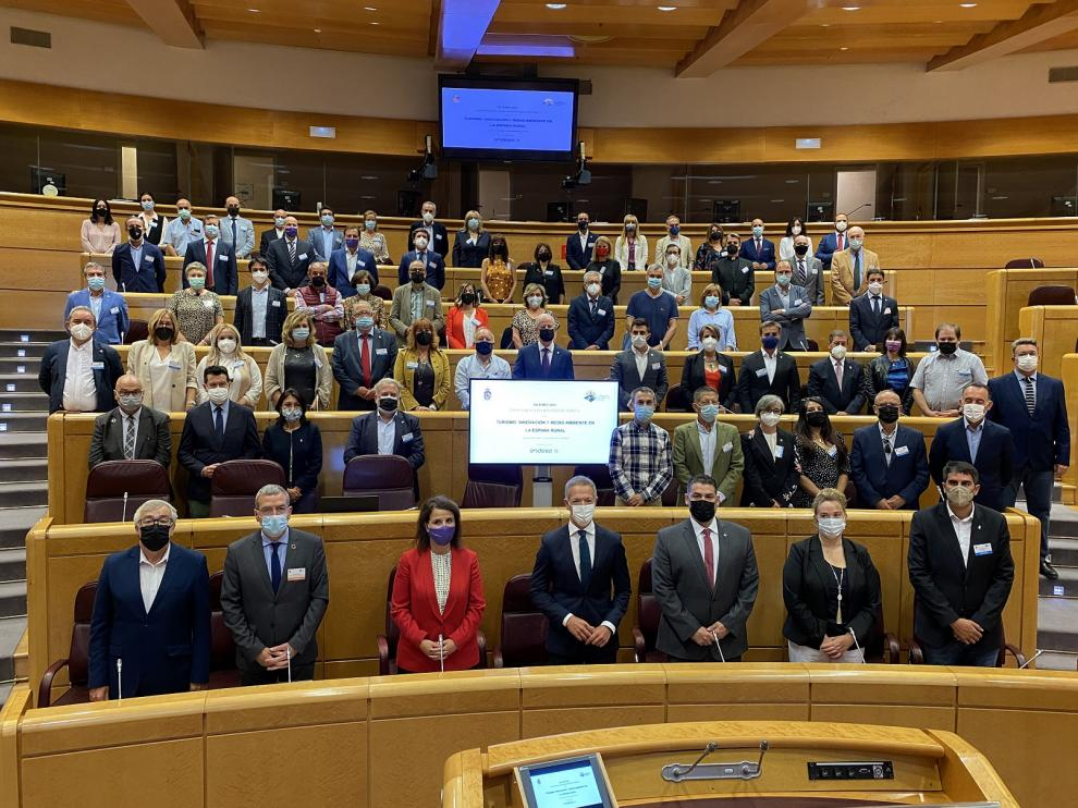 En la Jornada participaron siete localidades aragonesas y estuvo presidida por la reina Sofía.