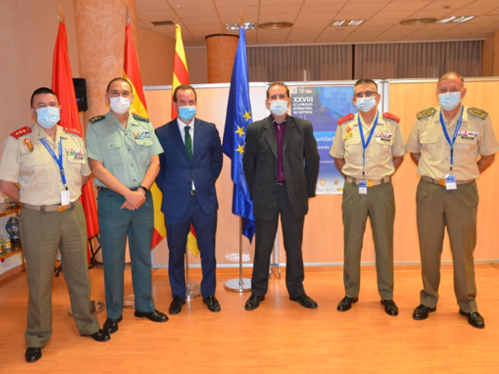 Ponentes en la jornada de este jueves del Curso Internacional de Defensa que se está celebrando en Jaca.