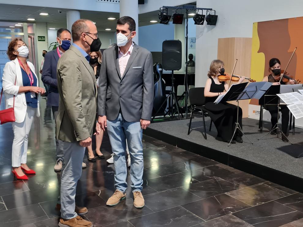 El consejero de Educación, Felipe Faci, en el Congreso de Innovación Educativa celebrado ayer en Zaragoza.