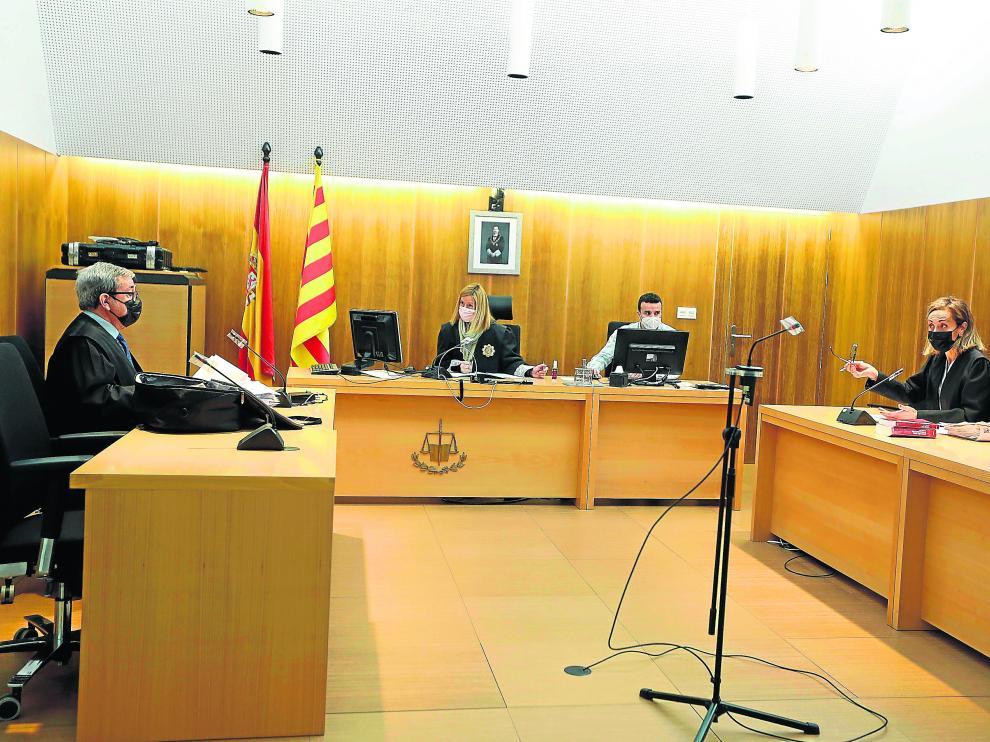 Foto de uno de los juicios que ha habido estos meses en el Palacio de Justicia de Huesca.
