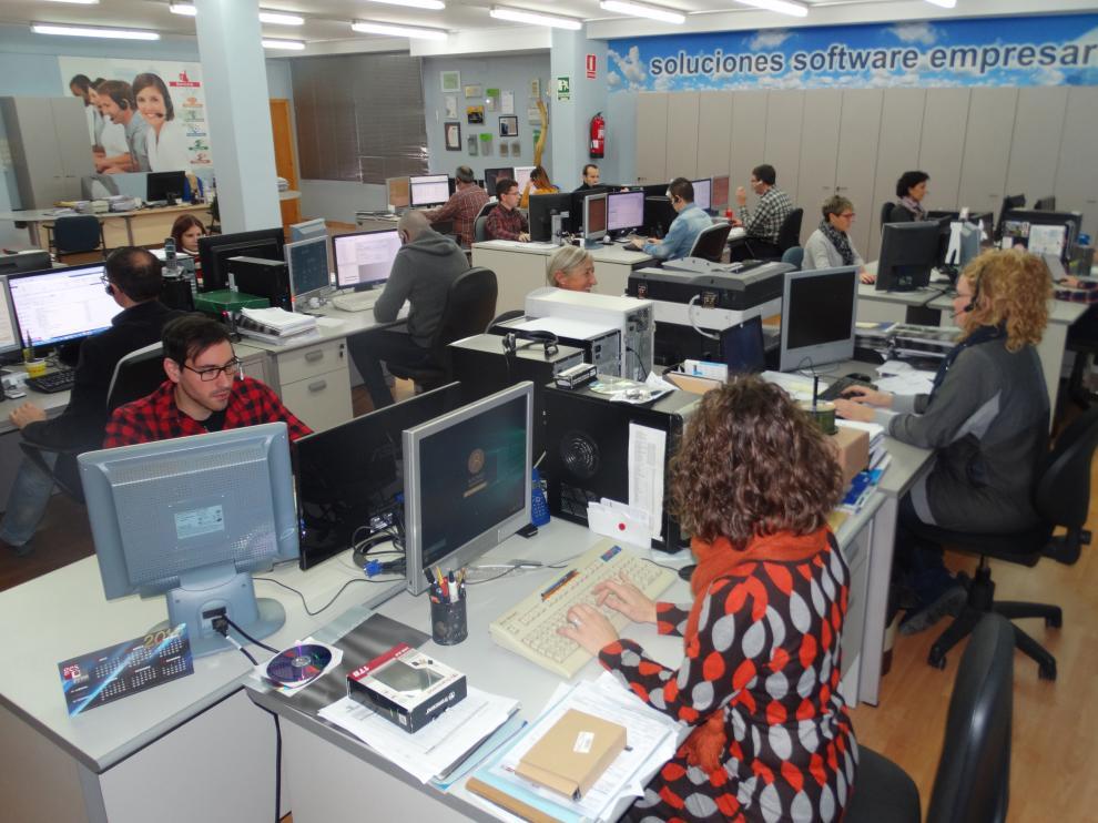 Oficinas centrales de Programación Integral en Binéfar.