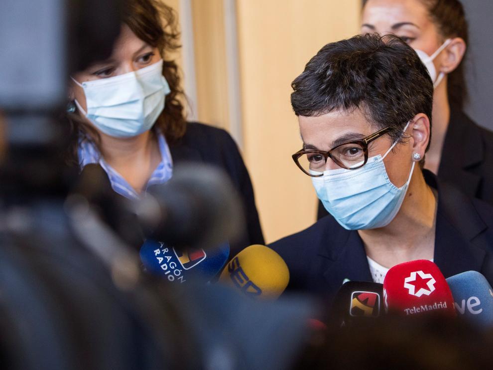 González-Laya ha respondido a las preguntas de los medios.