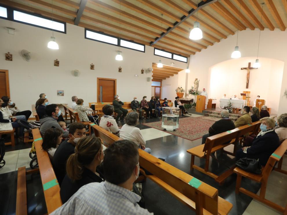 Imagen durante la misa en honor a San Francisco de Asís.