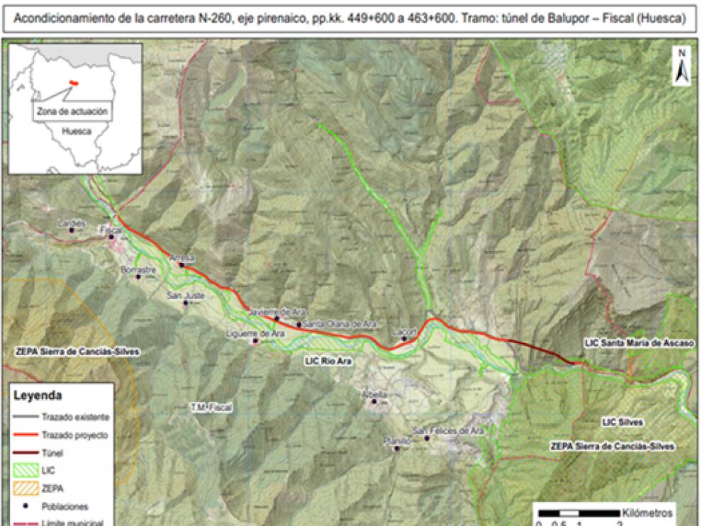 Proyecto para el acondicionamiento de la vía.