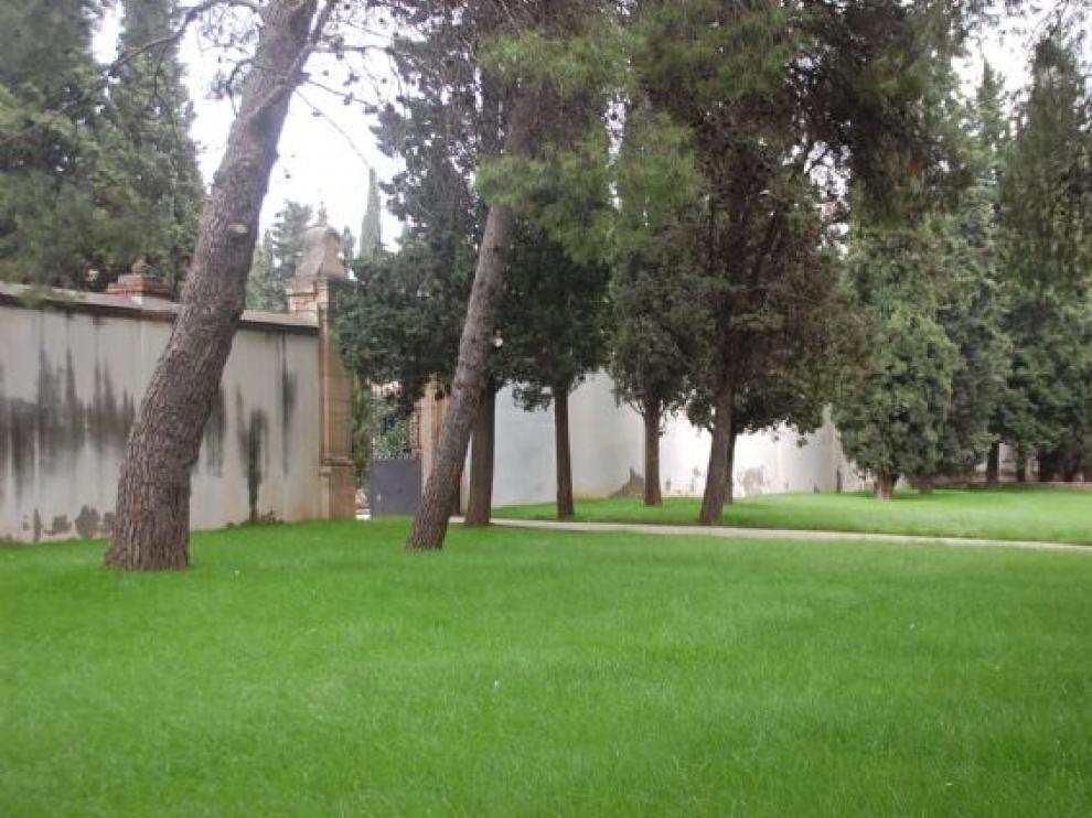 Interior del cementerio de Fraga