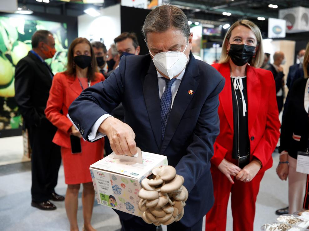 El ministro Luis Planas ayer durante la inauguración de la Feria en Madrid.