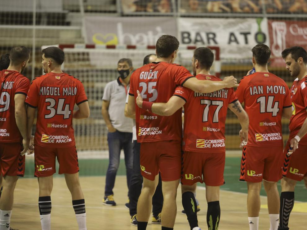 El Bada, este miércoles en el Palacio de los Deportes de Huesca.