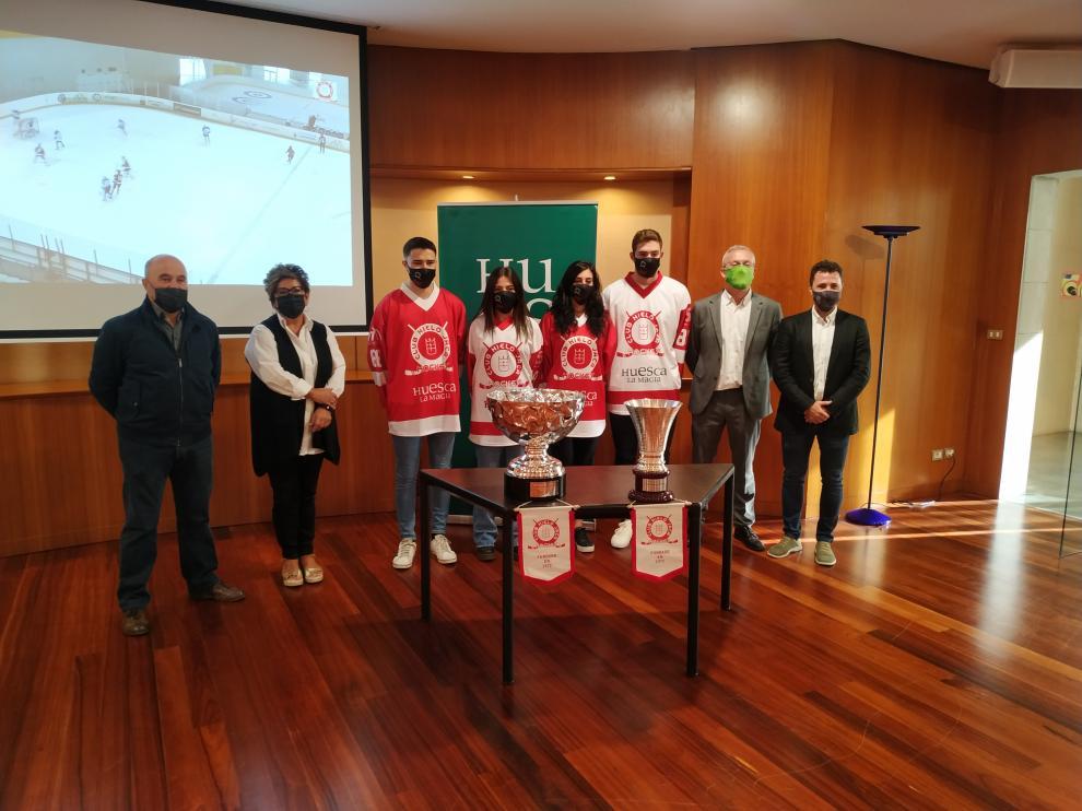 Presentación del patrocinio en la Diputación de Huesca.