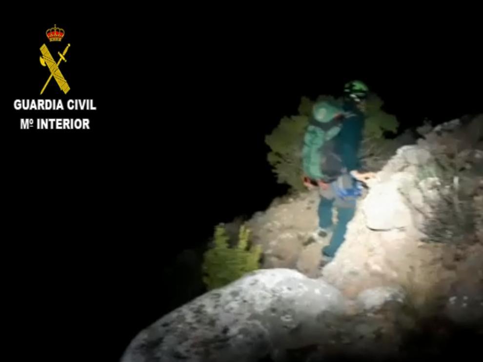 Captura de pantalla del vídeo remitido por la Guardia Civil.