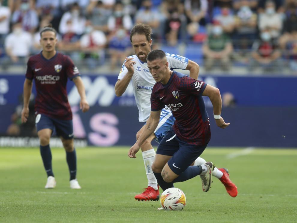 Dani Escriche, en el partido ante el Tenerife.