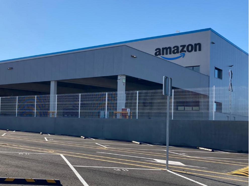 Estación logística de Amazon en Zaragoza.