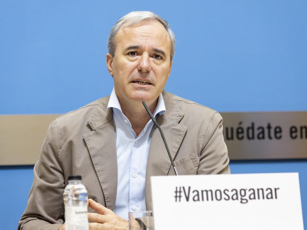 Jorge Azcón, alcalde de Zaragoza.