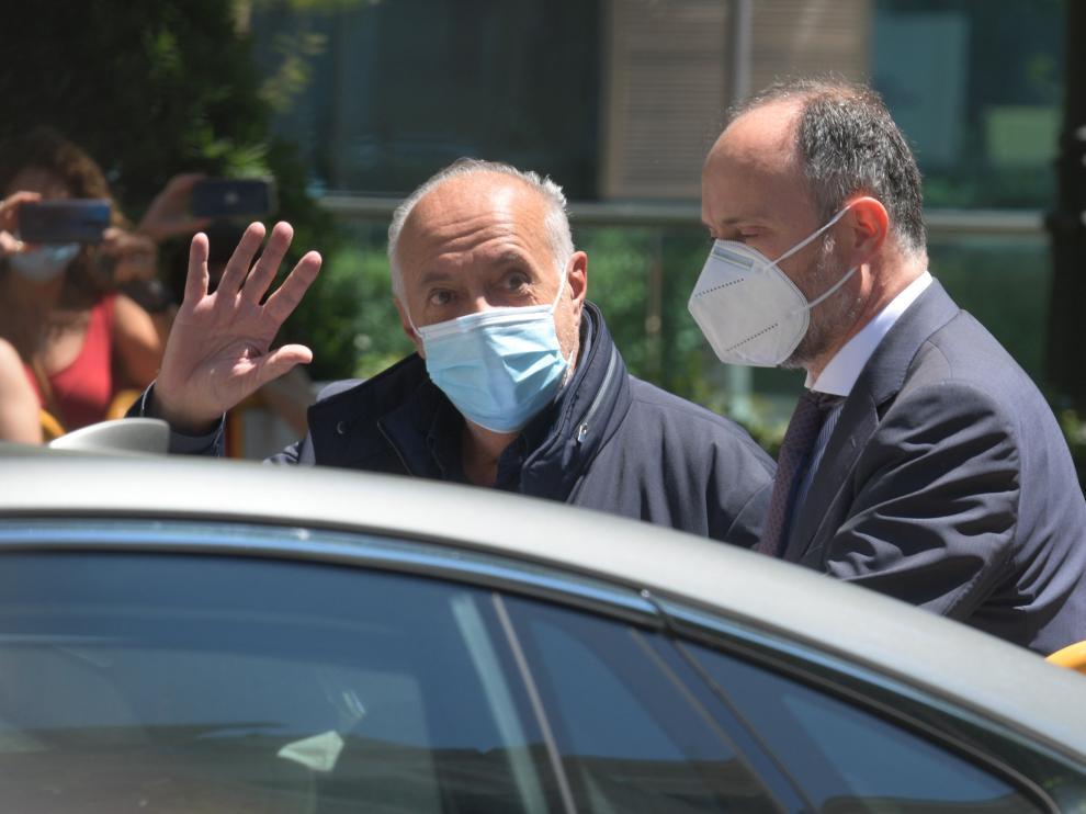 José Luis Moreno sale de la Audiencia Nacional tras quedar en libertad, el pasado 1 de julio.