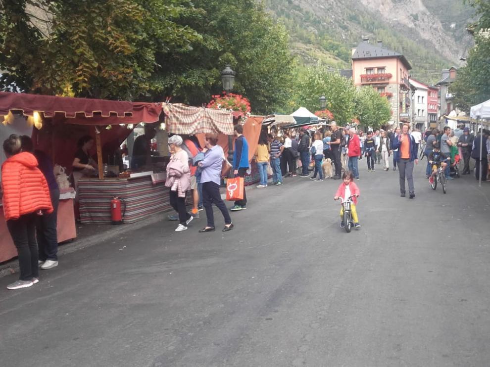 Feria de la ganadería del Pilar de Benasque celebrada en 2019.