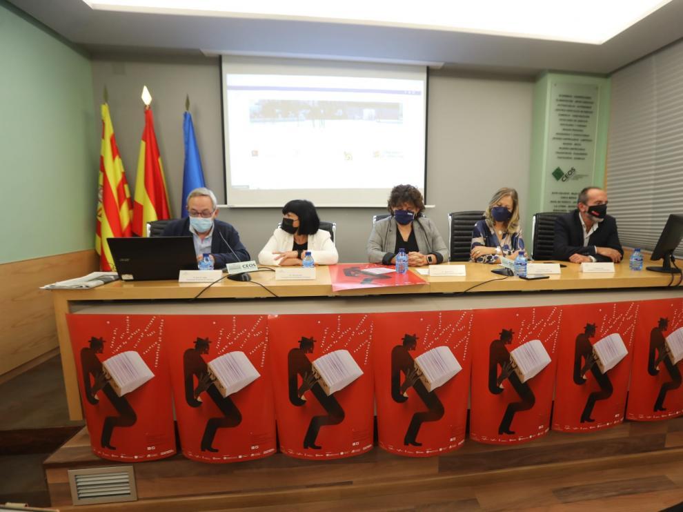 Imagen del acto de presentación de la Feria del Libro de Huesca.