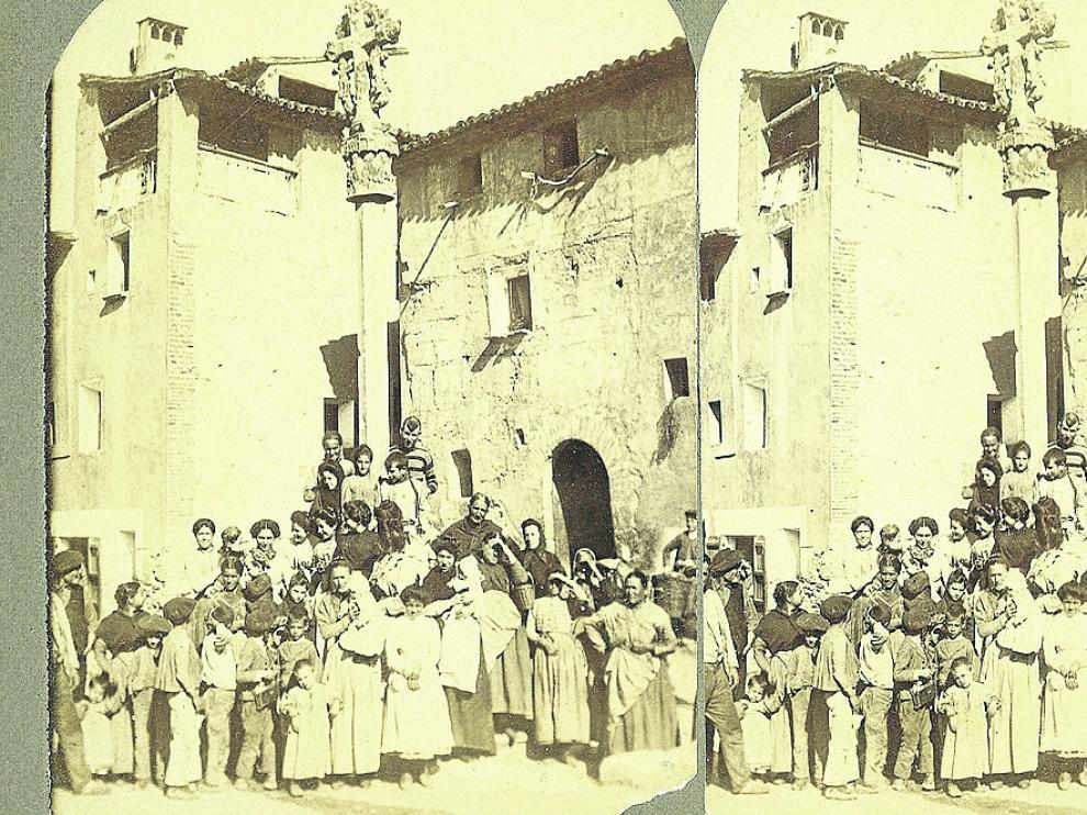 Imagen de los habitantes de San Esteban de Litera.