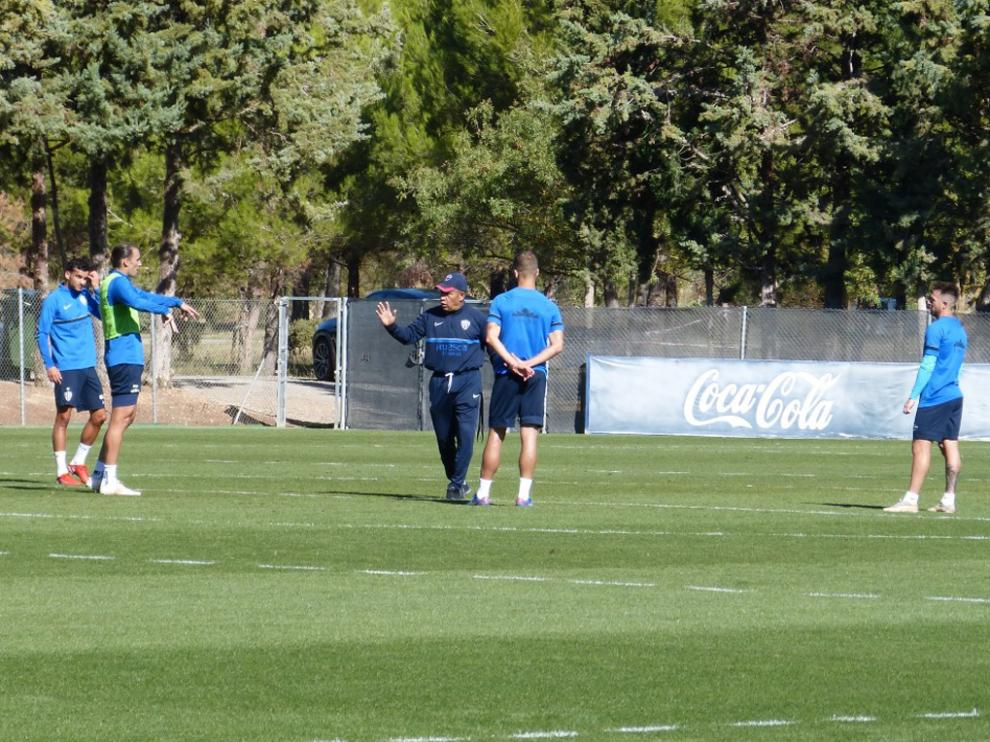 Nacho Ambriz con Florian Miguel, Ignasi Miquel, Pulido y Buffarini.