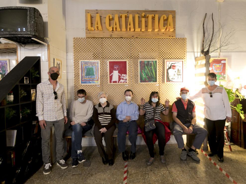 Los artistas participantes, en La Catalítica.