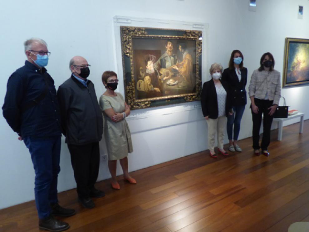 Ardanuy, Noguero, De Pablo, Morte, Galindo y Puértolas posan junto al Velázquez