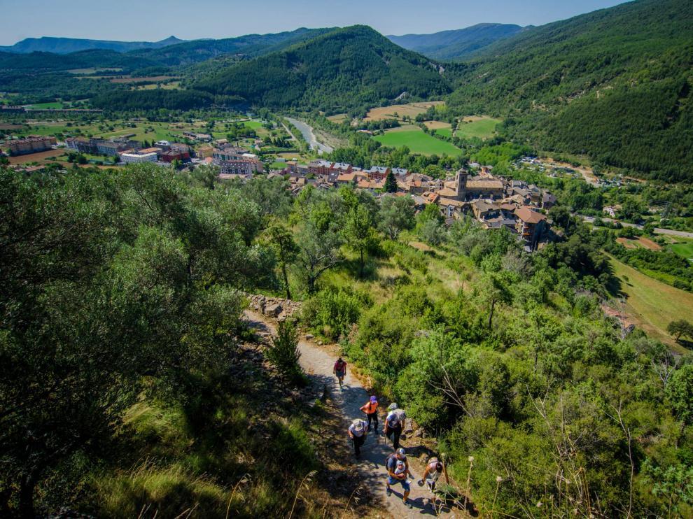 Vista de Boltaña.