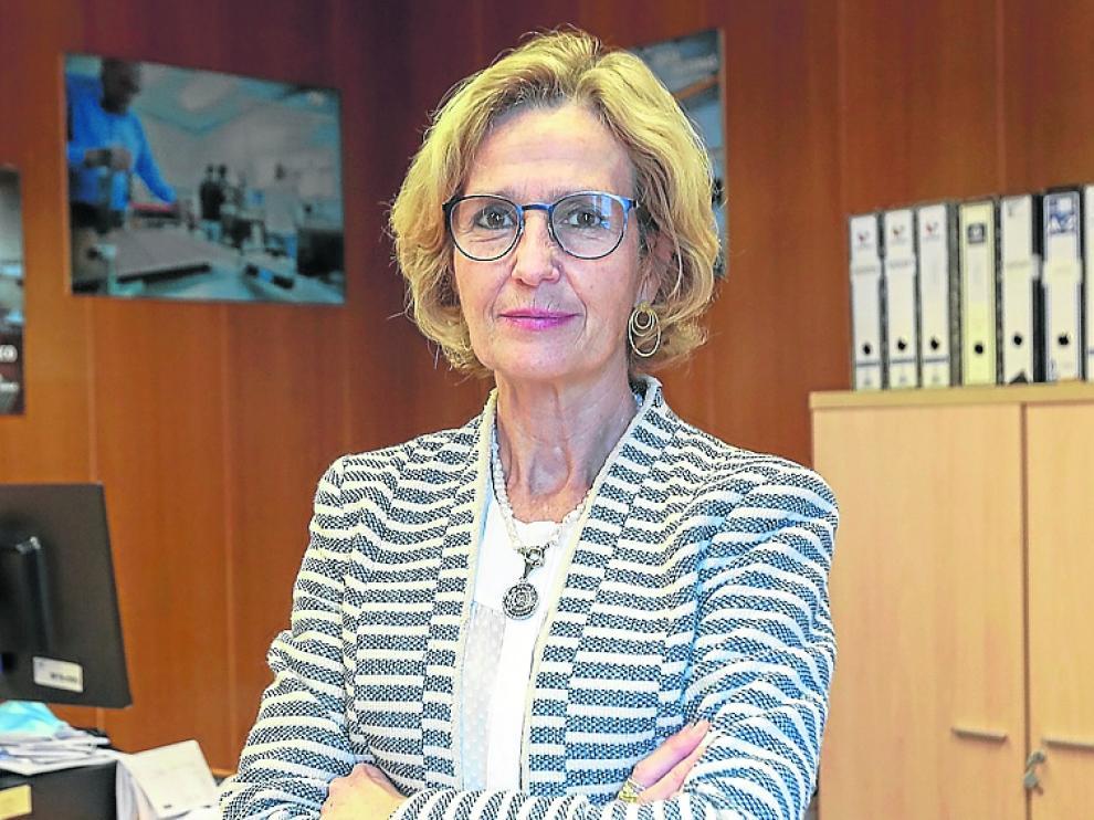 Ana Fuertes en la Oficina de Información al Consumo.
