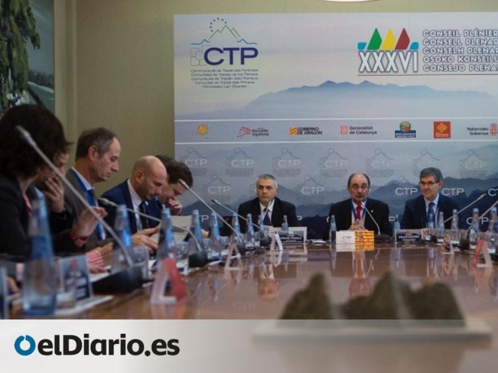 Imagen de una reunión anterior del Consorcio de la Comunidad de Trabajo de las Pirineos.