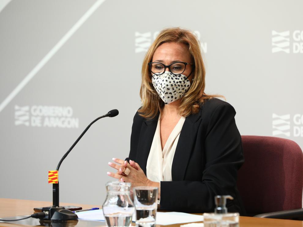 Mayte Pérez ha comparecido tras el Consejo de Aragón.