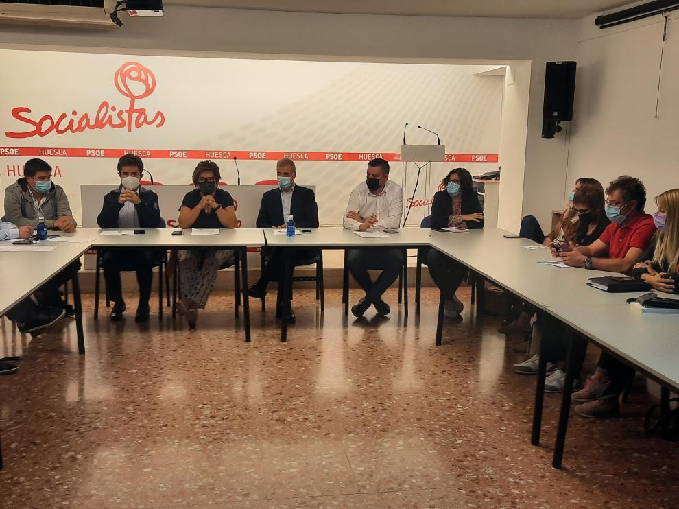 La Federación Socialista Altoaragonesa celebraba este miércoles Comisión Ejecutiva Provincial.