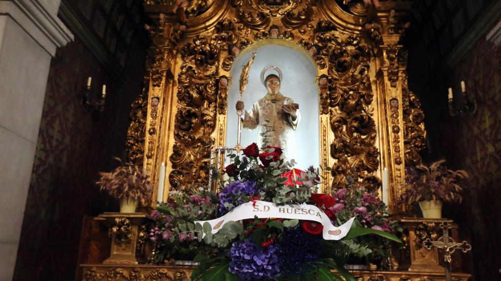 Iglesia San LorenzoOfrenda del Huesca a San Lorenzo  foto pablo segura  16 - 9 - 21